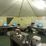 Crewzers Octagon 19′ x 35′ Tent Interior Work Area