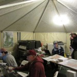 Octagon 19′ x 35′ Tent Interior Command Central