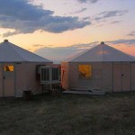 Western Shelter Octagon 20' Tent at Sunset