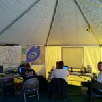 Western Shelter Octagon 20' Tents Work Area