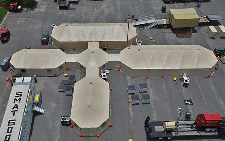 Ariel View of 23' x 60' Tents