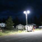 Base Camp with Light Towers