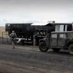 Military Base Camp with Mobile Showers and Hand Wash Stations