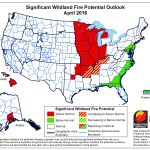 wild land fire potential outlook